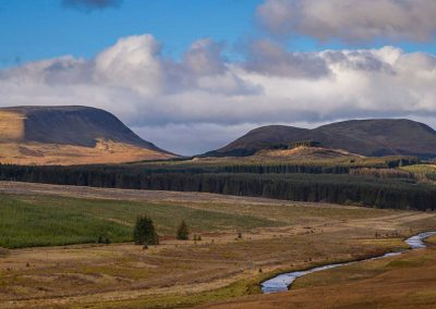 From Stroanfreggan Iron Age Fort to be spoilt by Quantans, Shepherds Rig and Windy Rig wind farms.